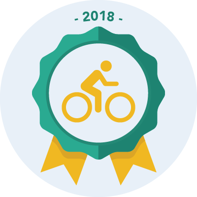 Completed the #bike2018 3000 miles challenge